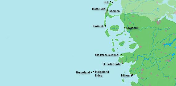 Nordfriesische Inseln Karte.Leuchttuerme Net Nordfriesland