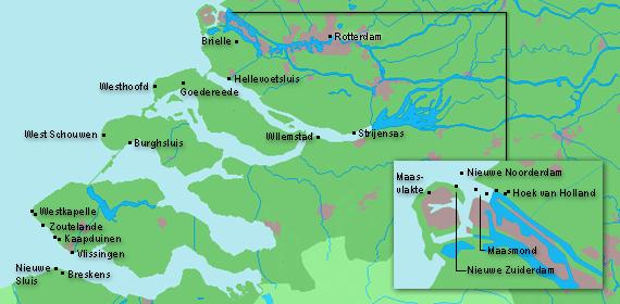 Zeeland Karte Niederlande.Leuchttuerme Net Zuid Holland Zeeland
